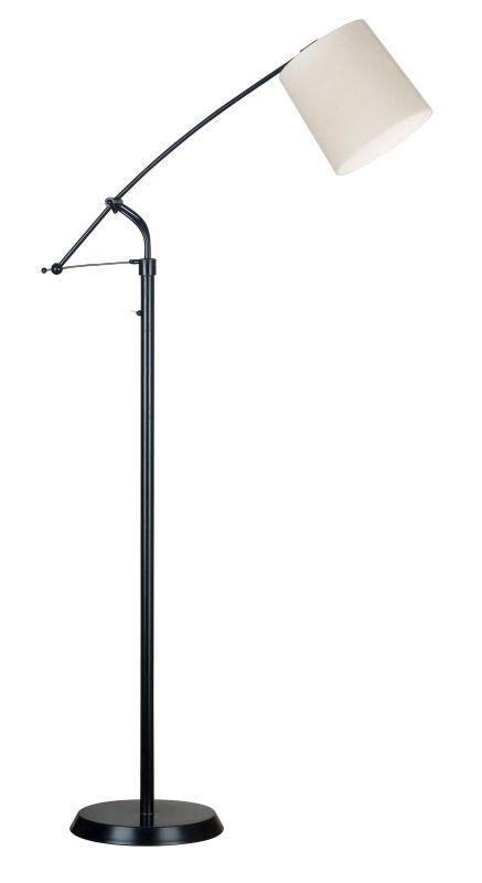 Kenroy Home 20812ORB Reeler 1 Light Boom Arm Floor Lamp Oil Rubbed