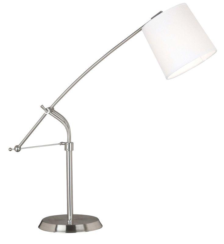 Kenroy Home 20813 Reeler 1 Light Boom Arm Desk Lamp Brushed Steel