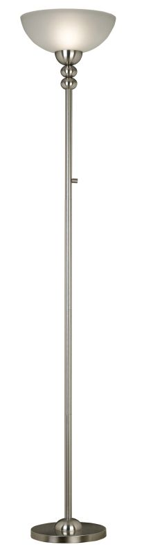 Kenroy Home 20969 Baubles 1 Light Torchiere Floor Lamp Brushed Steel