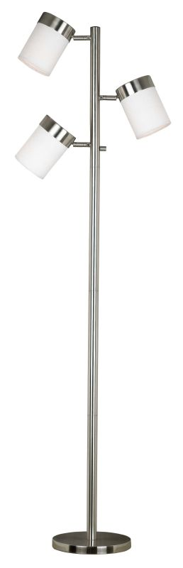 Kenroy Home 20970 Roarke 3 Light Adjustable Floor Lamp Brushed Steel