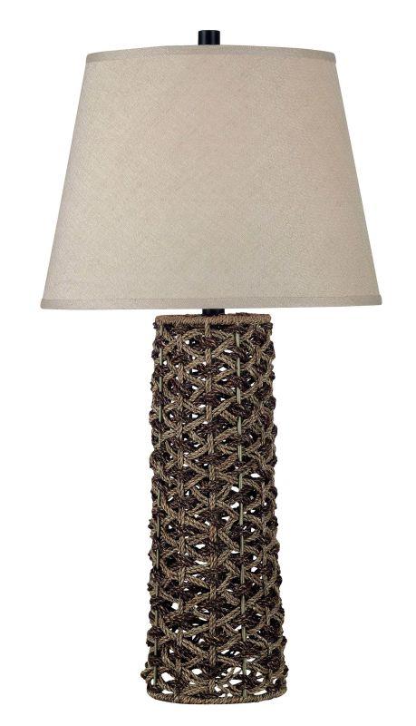 Kenroy Home 20974 Jakarta 1 Light Table Lamp Light and Dark Rope Lamps