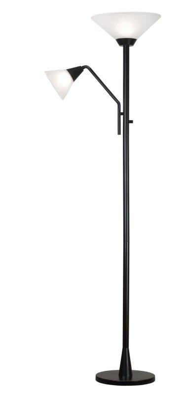 Kenroy Home 21002 Rush 2 Light Torchiere Floor Lamp Oil Rubbed Bronze