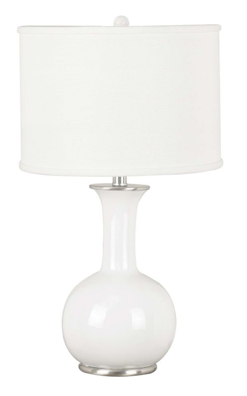 Kenroy Home 21024 Mimic 1 Light Table Lamp Gloss White Lamps