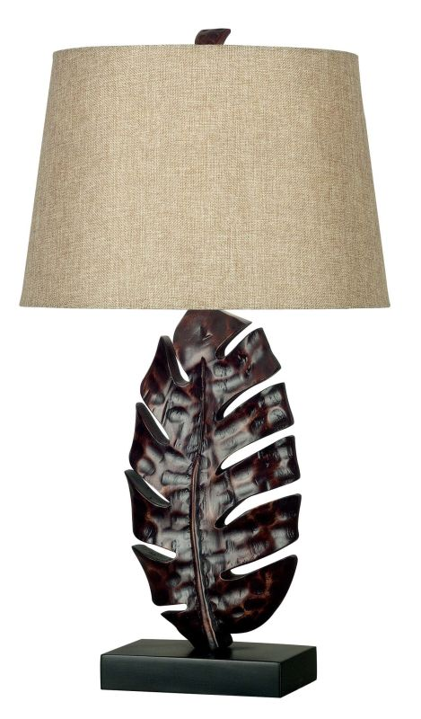 Kenroy Home 21050 Frond 1 Light Table Lamp Mottled Bronze Lamps