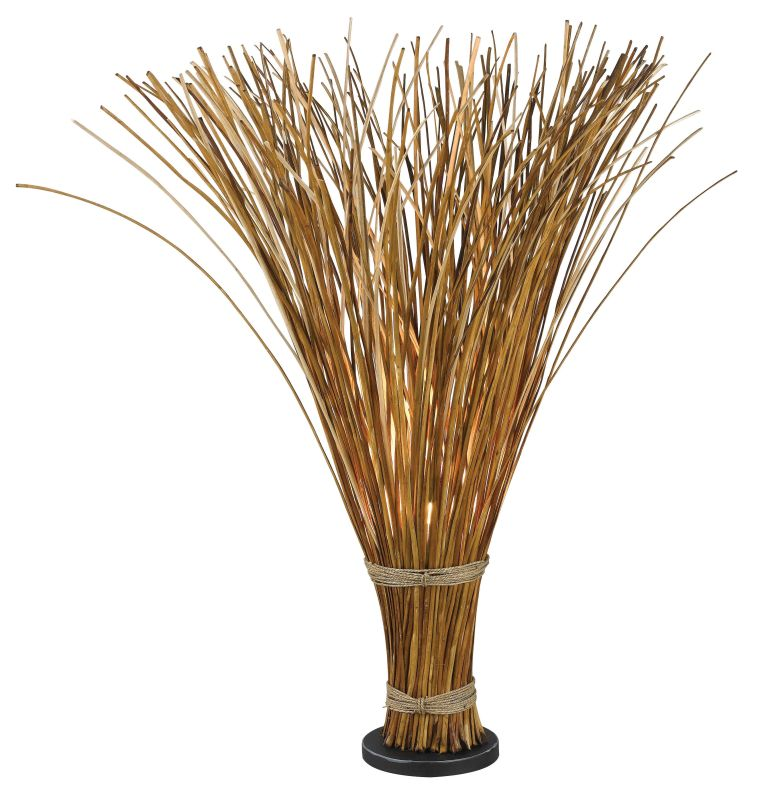 Kenroy Home 21065 Sheaf 1 Light Accent Floor Lamp Natural Reed Lamps