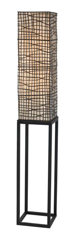 Kenroy Home 21069 Fortress 2 Light Column Floor Lamp Bronze Lamps