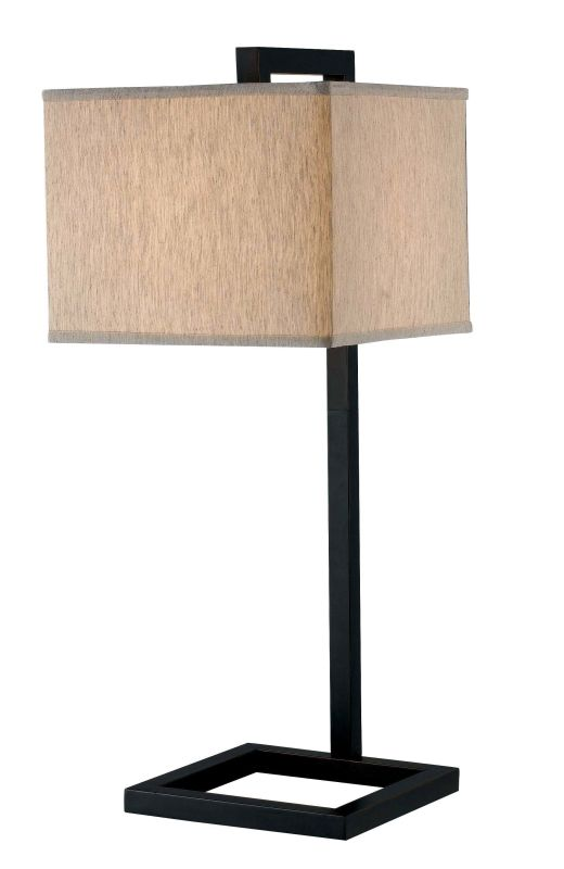 Kenroy Home 21079 4 Square 1 Light Table Lamp Oil Rubbed Bronze Lamps