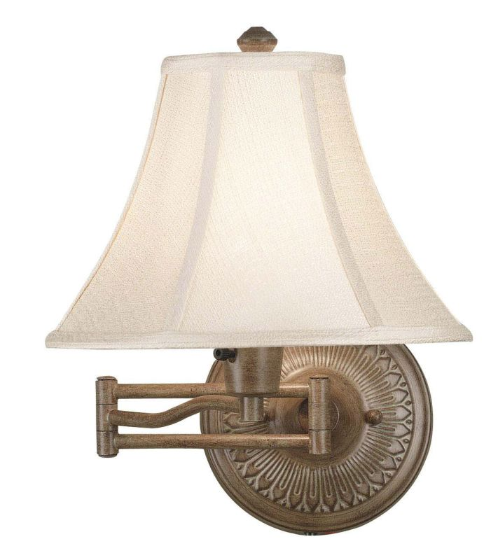 Kenroy Home 21395 Amherst 1 Light Plug In Wall Sconce Nutmeg Indoor