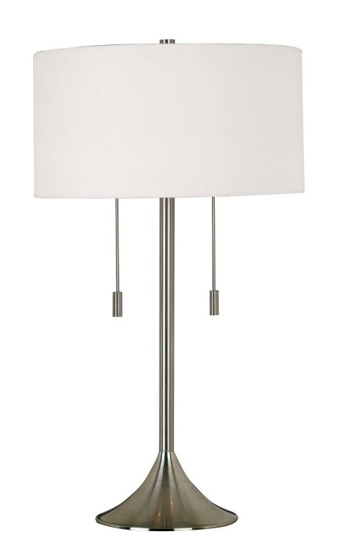 Kenroy Home 21404 Stowe 2 Light Table Lamp Brushed Steel Lamps
