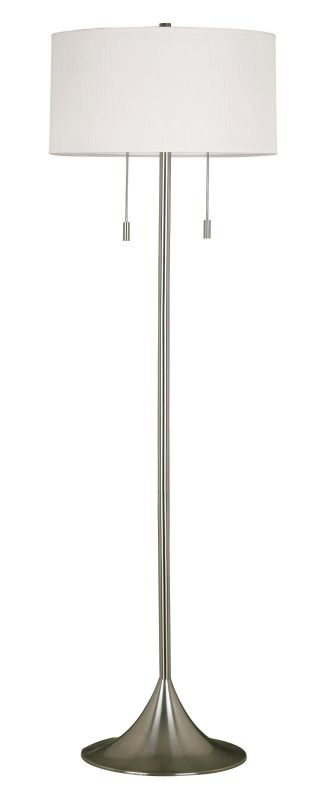 Kenroy Home 21405 Stowe 2 Light Floor Lamp Brushed Steel Lamps