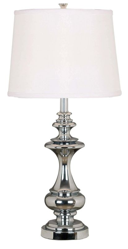 Kenroy Home 21430 Stratton 1 Light Table Lamp Chrome Lamps