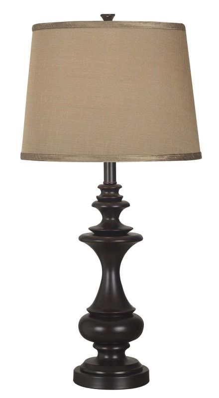 Kenroy Home 21430 Stratton 1 Light Table Lamp Oil Rubbed Bronze Lamps