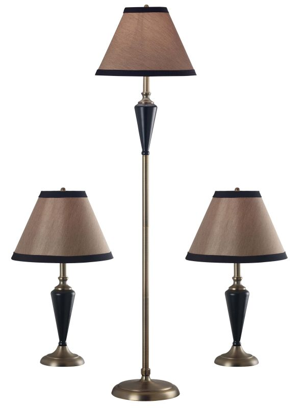 Kenroy Home 30349 Pack of 3 Hunley 1 Light Floor Lamp and 2 Table Sale $178.20 ITEM: bci906193 ID#:30349 UPC: 53392055721 :