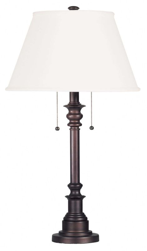 Kenroy Home 30437 Spyglass 2 Light Table Lamp Bronze Lamps
