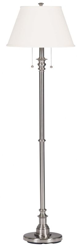 Kenroy Home 30438 Spyglass 2 Light Floor Lamp Brushed Steel Lamps