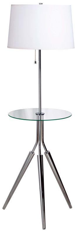 Kenroy Home 30510 Rosie 1 Light Tripod Floor Lamp Chrome Lamps Tripod