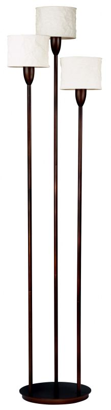 Kenroy Home 30673 Crush 3 Light Torchiere Floor Lamp Oil Rubbed Bronze