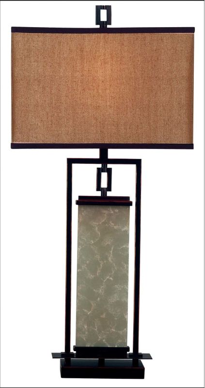 Kenroy Home 30740 Plateau 1 Light Table Lamp Oil Rubbed Bronze Lamps
