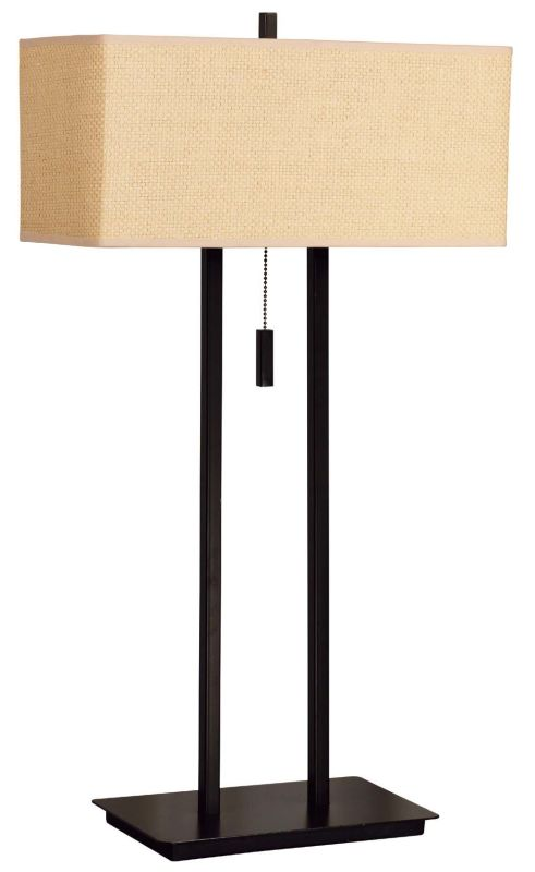 Kenroy Home 30816 Emilio 2 Light Table Lamp Bronze Lamps