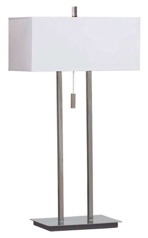 Kenroy Home 30816 Emilio 2 Light Table Lamp Chrome Lamps