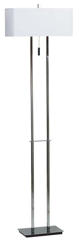Kenroy Home 30817 Emilio 2 Light Floor Lamp Chrome Lamps