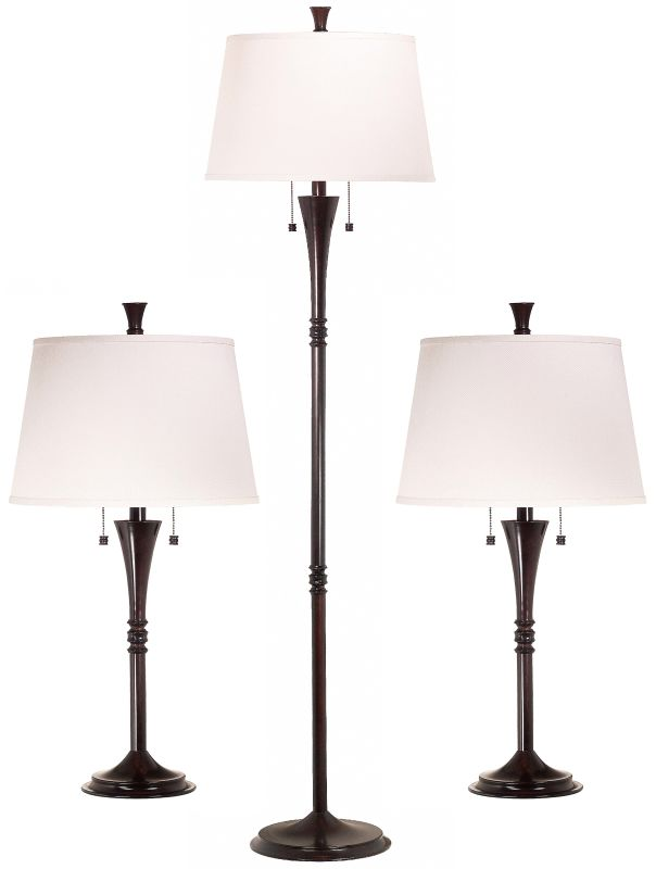 Kenroy Home 30843 Park Avenue 2 Light Floor and Table Lamps - Set of 3