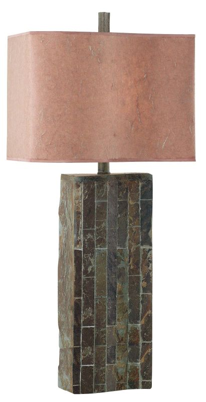 Kenroy Home 30894 Ripple 1 Light Table Lamp Natural Slate Lamps Sale $129.60 ITEM: bci906235 ID#:30894SL UPC: 53392053598 :