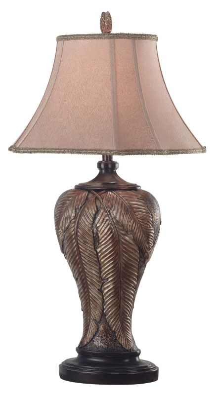 Kenroy Home 31124 Bermuda 1 Light Table Lamp Leafed Bronze Lamps