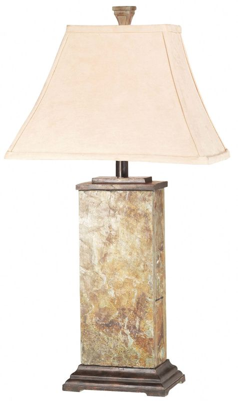 Kenroy Home 31202 Bennington 1 Light Table Lamp Natural Slate Lamps
