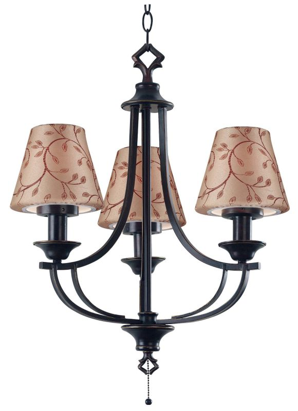 Kenroy Home 31367 Belmont 3 Light Outdoor Chandelier Oil Rubbed Bronze