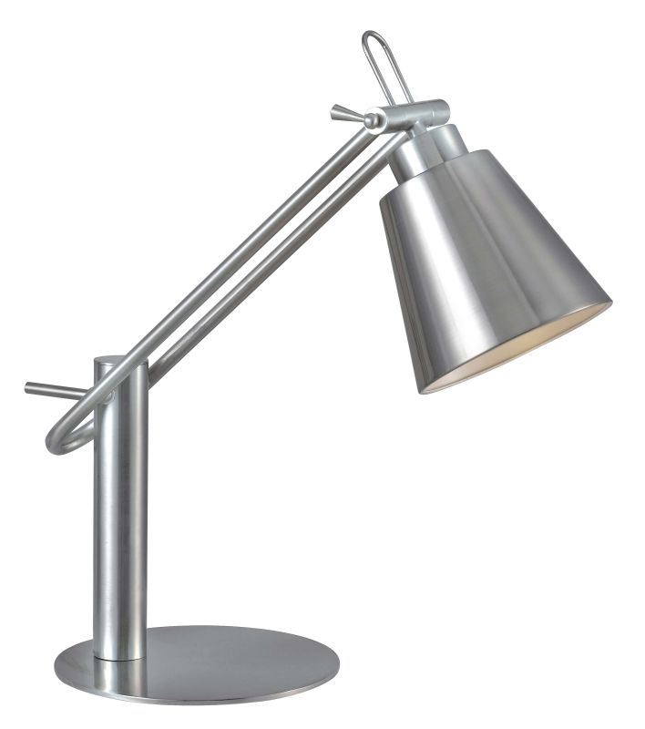 Kenroy Home 32004 Nelson 1 Light Swing Arm Table Lamp Brushed Steel