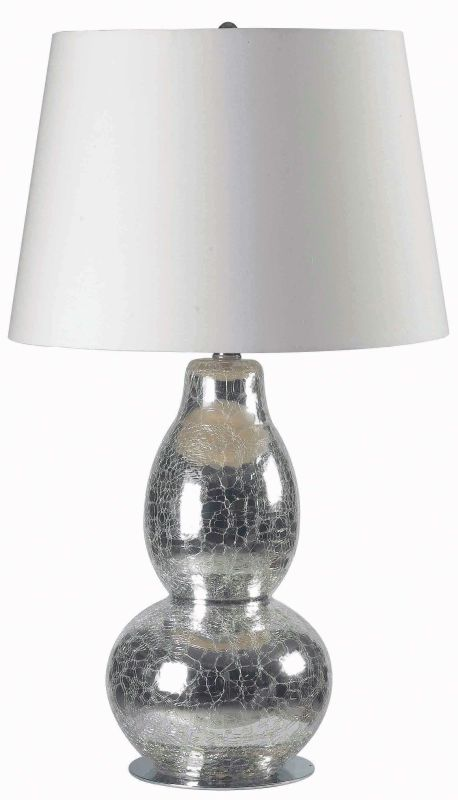 Kenroy Home 32041 Mercurio 1 Light Table Lamp Chrome Crackled Glass