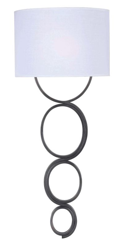 Kenroy Home 32046 Circo 1 Light Plug In Wall Sconce Weathered Steel
