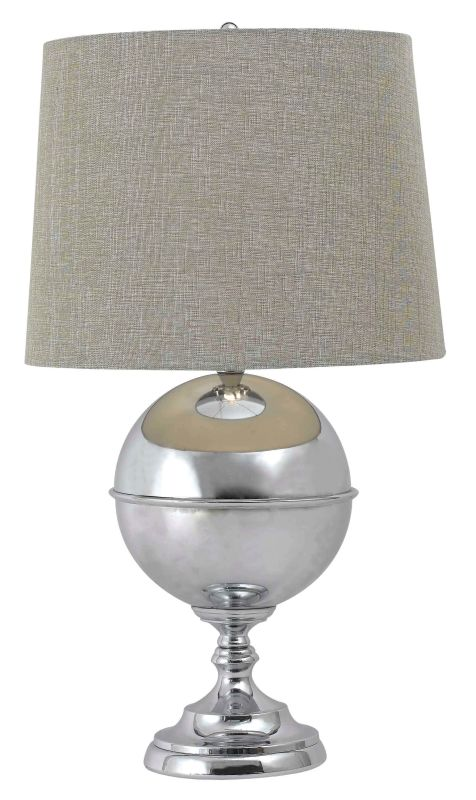 Kenroy Home 32053 Atlas 1 Light Table Lamp Chrome Lamps