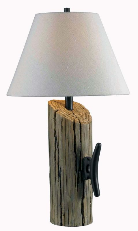 Kenroy Home 32055 Cole 1 Light Table Lamp Wood Grain Lamps
