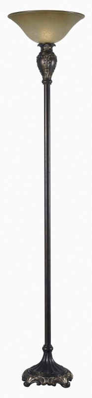 Kenroy Home 32059 Contessa 1 Light Torchiere Floor Lamp Bronzed Gold