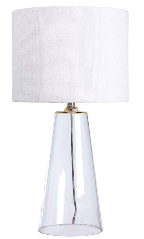 Kenroy Home 32062 Boda 1 Light Table Lamp Clear Glass Lamps