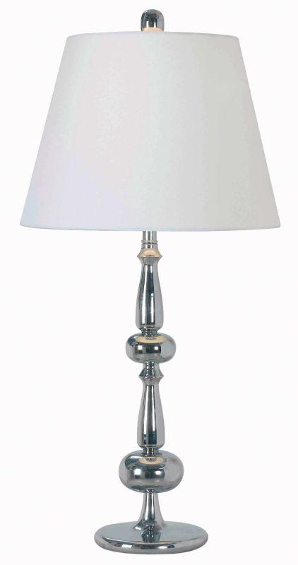 Kenroy Home 32094 Amsterdam 1 Light Table Lamp Chrome Lamps