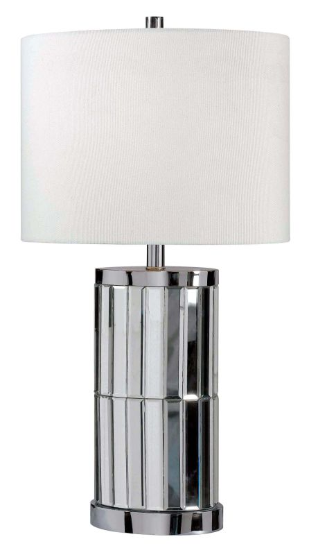 Kenroy Home 32097 Lustre 1 Light Table Lamp Chrome Mirror Lamps