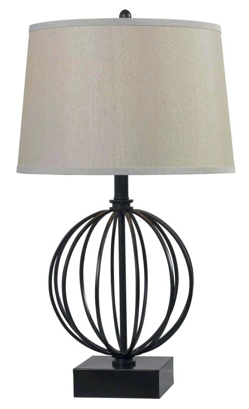 Kenroy Home 32102 Globus 1 Light Table Lamp Oil Rubbed Bronze Lamps