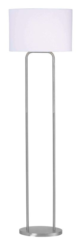 Kenroy Home 32109 Duet 1 Light Floor Lamp Brushed Steel Lamps