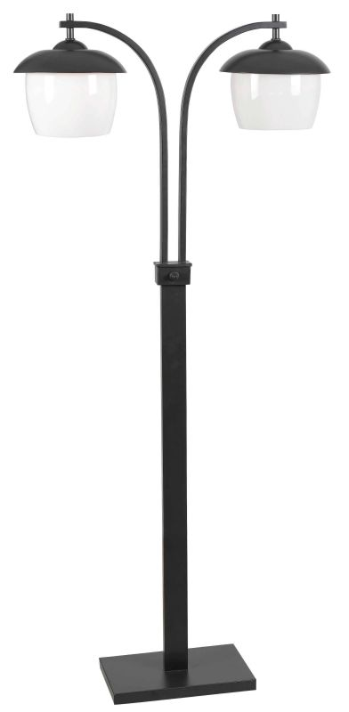 Kenroy Home 32141 Lika 2 Light Outdoor Floor Lamp Oil Rubbed Bronze