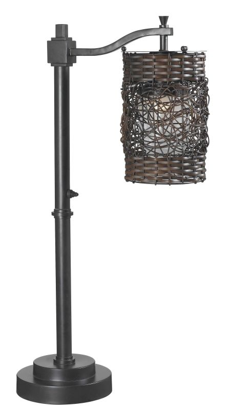Kenroy Home 32143 Brent 1 Light Outdoor Table Lamp Oil Rubbed Bronze