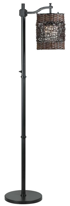 Kenroy Home 32144 Brent 1 Light Outdoor Floor Lamp Oil Rubbed Bronze