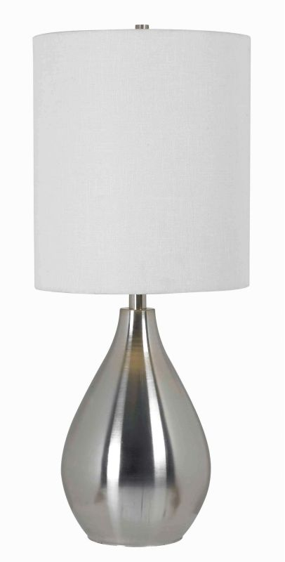 Kenroy Home 32156 Droplet 1 Light Table Lamp Brushed Steel Lamps