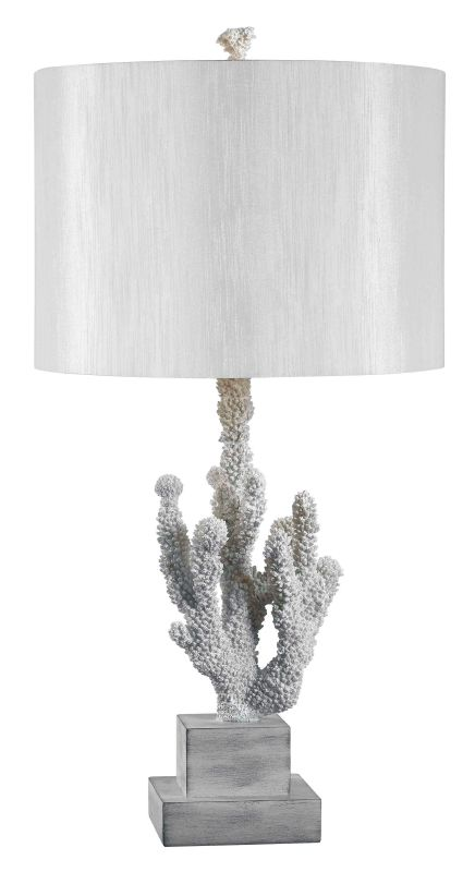 Kenroy Home 32166 Coral 1 Light Table Lamp White Coral Lamps