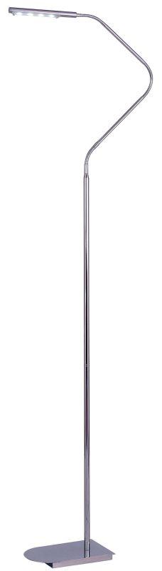 Kenroy Home 32175 Bently 4 Light LED Swing Arm Floor Lamp Chrome Lamps