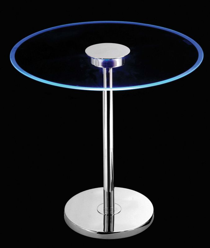 "Kenroy Home 32176 Spectral 24 Light 20"" Color Changing LED Glass Table"