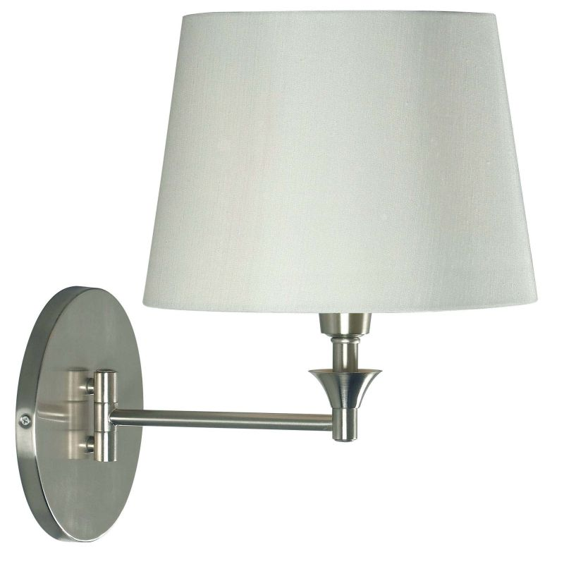 Kenroy Home 32180 Martin 1 Light Plug In Wall Sconce Brushed Steel