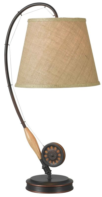 Kenroy Home 32193 Fly Rod 1 Light Table Lamp Oil Rubbed Bronze Lamps